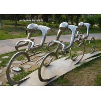Buy cheap Metal Abstract Cyclist Sculpture Stainless Steel For Garden Decoration product