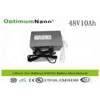 Buy cheap CE / ISO / MSDS LiFePO4 Electric Bike Lithium Battery ,  48V 10Ah E Bike Battery Replacement product