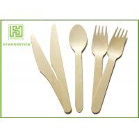 China Amazon Hot Sell Eco Friendly Disposable Tableware Wooden Cultery Set Spoon Fork Knife wholesale