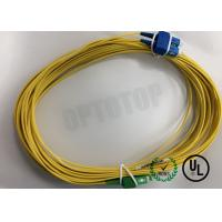 Buy cheap Duplex Yellow Fiber Optic Patch Cord Single Mode FC / UPC - FC / APC 20 Mm product