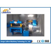 Buy cheap High Efficiency Blue Color Corrugated Sheet Roll Forming Machine Mitsubishi PLC from wholesalers