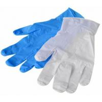 Buy cheap Commercial  Clear Pvc Gloves , Blue Disposable Gloves Powder Free / Powded product