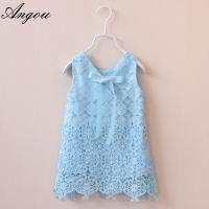 China Agnou Summer Lace Vest Girls Dress Baby Girl Princess Dress Chlidren Clothes wholesale on sale