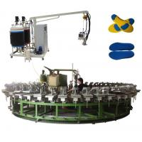 Buy cheap pu shoe insole and outsole molding machine with automatic rotary production line product