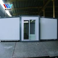 China 20ft cheap modular homes prefab sandwich panel material expandable container house on sale