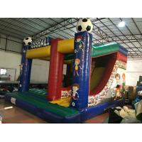 Buy cheap Inflatable soccer combo popular inflatable fussball jump with slide on sale customized inflatable football jump house from wholesalers