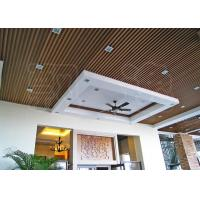 China Suspended Wood Plastic Composite Ceiling Panels for Office / Hotel on sale