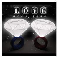 China New creative gift product diamond ring style night light lamp on sale