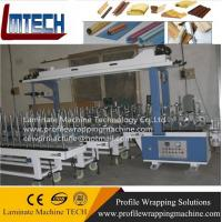 Buy cheap quality PVC door sheet profile wrapping machine with good price from wholesalers