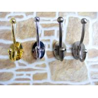 Buy cheap Decorative wall mounting double metal hooks for clothes hanger, zinc alloy metal hook product