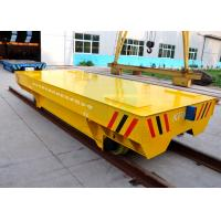Buy cheap Large Platform Self Propelled Heavy Load Rail Transport Trailer With Steel Plate product