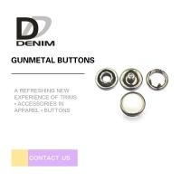 Buy cheap Jeans Parts Gunmetal Metal Decorative 10mm Pearl Snap Buttons product