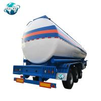 Buy cheap Tri-axle carbon steel oil fuel petrol milk  water transport tanker semi truck trailer for sale product