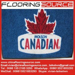 China Anti Slip Custom Printed Welcome Logo Door Mat Outdoor Floor Mat Nylon Fiber Rubber Backing Sweep Dirt Entrance Mat on sale