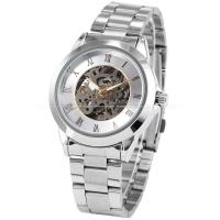 Buy cheap Roman Silver Mens Wrist Watches 41mm , Stainless Steel Wrist Watch product