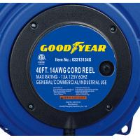Buy cheap 40ft Triple Tap Heavy Duty Extension Cord Reel Goodyear Hose Reel With LED Lighted Connector from wholesalers