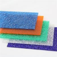 Buy cheap Indoor Decoration Embossed Polycarbonate Sheet With Good Impact Resistance product