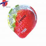 Buy cheap HOT Sale! aluminum foil lid plastic yogurt cup lid colored aluminum foil for plastic yogurt product