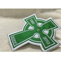 Buy cheap Beautiful Oval Custom Clothing Patches Embroidered Sew On Badges Eco - Friendly product