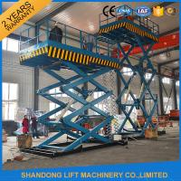 Buy cheap 2T 7m Portable Stationary Hydraulic Scissor Lift Table High Strength Manganese Steel product