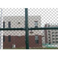 Buy cheap 6 x 12 FT Green Chain Link Fence For Sports Court 4.0 MM Diamond Mesh Fence product