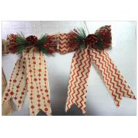 Buy cheap Ribbon Bow Present Wrapping Accessories Merry Christmas Tree Decoration Classical Linen product