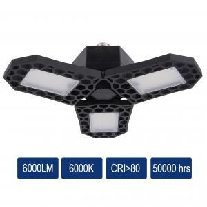 Buy cheap LED Garage light High lumen 30W 40W 50W 60W Highbay 8000lm adjustable 3 panel parking Light product