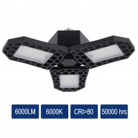 Buy cheap LED Garage light High lumen 30W 40W 50W 60W Highbay 8000lm adjustable 3 panel from wholesalers