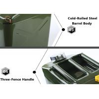 Buy cheap Portable Car Stainless Steel Fuel Tank Vertical Jerry Can , oil drum product