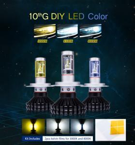 China Auto head lights Guangzhou manufacturer H4 fanless LED bulb 80W H4 LED Headlight on sale