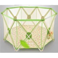 Buy cheap One Band Fold Green Large Baby Playpen Fence With Durable Fabric product