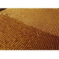 Buy cheap 3x3mm Gold Metal Mesh Fabric ,  Smooth Surface Sequin Mesh Fabric Cloth product
