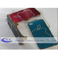 Buy cheap Trefilado del logotipo de Apple, cajas de encargo del iPhone 4S del metal con el diamante Shell product