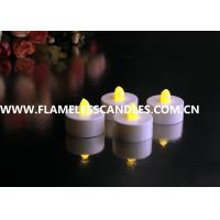 China White Body flameless LED Tealight Candles , Plastic LED Candles Set for Christmas or Event on sale