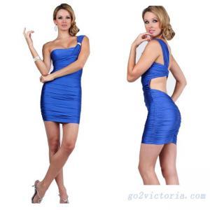 Buy cheap 卸し売りサテンのロイヤル ブルーのカクテル ドレス(RB9501) product