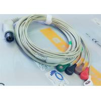 Buy cheap M&B 6 Pin Snap AHA ECG Patient Cable For Medical Equipment , Electrode Lead Wires product