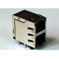 Buy cheap 0879-2G1R-Y6 Stacked RJ45 2x1 Magjack Connector Shielded LED Integrated product