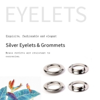Buy cheap Silver Nickel Free Diameter 3mm Metal Eyelet Rings product