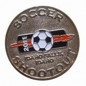 Buy cheap La pièce de monnaie du football, faite de matériel en laiton, des ordres d'OEM sont bienvenue product