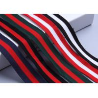Buy cheap Striped Custom Present Wrapping Accessories 25mm - 50mm Printed Grosgrain Ribbon product
