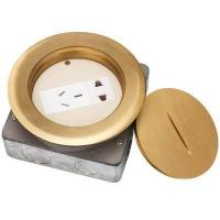 Buy cheap DCX-130/G Brass Spiral Round floor socket box from wholesalers