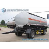 Buy cheap 15000 L 2 Axles Oil Tank Trailer , Full stainless steel tanker trailers For Water / Chemical / LPG product