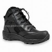 Buy cheap Military Combat Boots with Direct Molded Sole, Made of Cowhide Full Grain Leather/Cordura product