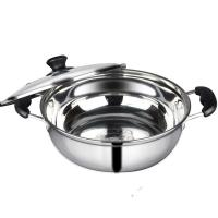 China Kitchen Pots And Pans With Glass Lid , Food Grade Stainless Steel Pots And Pans on sale