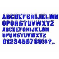 China Custom Embroidery fonts Igloo Laser96 design DST Formats on sale