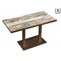 China Casting Iron Base Restaurant Dining Table 0.15cbm Volume For Fast Food / Hot Pot on sale