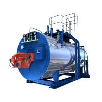 Quality Closed Vessel 1 Ton Oil Fired Hot Water Boiler with Big Flue Gas Tube for sale