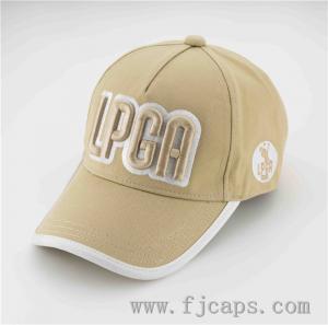 Buy cheap 【FUJUE】OEM 3D embroidery sports hats,5 panel LPGA golf caps, LPGA baseball hats product
