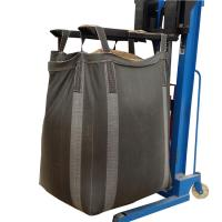 Buy cheap PP Woven Fibc Packing 1 Ton Bulk Bag Black Cross Corner Available Side Discharge Design product