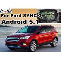 Buy cheap Android 5.1 Navigation Box Video Interface For Ford Kuga Escape SYNC 3 With WIFI BT MirrorLink Map Google Service product